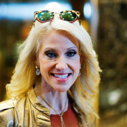 Campaign Manager Kellyanne Conway arrives at Republican president-elect Donald Trump's Trump Tower in New York, Nov. 13, 2016.