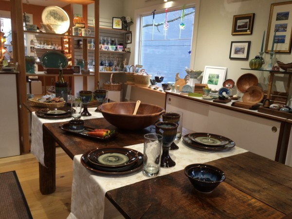 Georgetown Pottery stocks its shelves with glazed porcelain pieces created by local artists who work out of an island studio not far from Freeport.