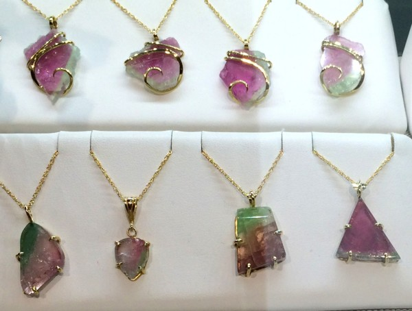 R.D. Allen Freeport Jewelers specializes in tourmaline, which is mined in Maine. The state gem appears in a variety of colors, including watermelon.