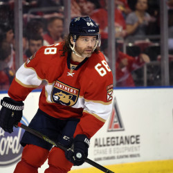 Florida Panthers right wing Jaromir Jagr (68) during the first period against the Detroit Red Wings at BB&T Center.