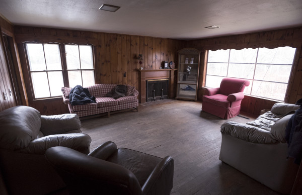 The living room of the Garry Owen House, which offers transitional housing to homeless veterans, can be seen Wednesday in Searsmont.