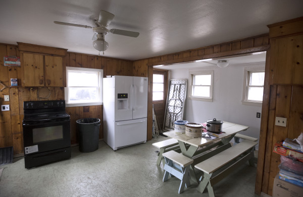 The kitchen of the Garry Owen House, which offers transitional housing to homeless veterans, can be seen Wednesday in Searsmont.