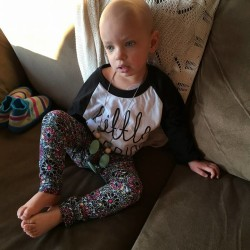 Madison Arndt, 2, of Brunswick will undergo a stem-cell transplant at Boston Children's Hospital in January. After six rounds of chemotherapy and surgery in November to remove an orange-sized tumor in her belly, her parents hope the transplant and subsequent treatment will destroy any remaining signs of the Stage III high-risk neuroblastoma, a cancer diagnosed in Madison in July.