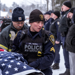 She died at home in my arms Maine police dog gets a final salute