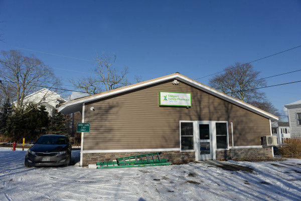 Ben Okafor's pharmacy, Eastport Family Pharmacy, can be seen on Dec. 15 in Eastport.