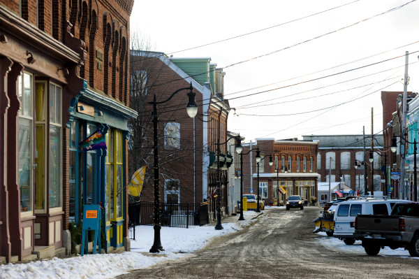 Eastport, which experienced declines in population and local services that, for about a decade, forced local residents to travel 27 miles to Calais to get prescription medications, can be seen on Dec. 15. In 2014, Nigerian immigrant Ben Okafor opened Eastport Family Pharmacy on Water Street.