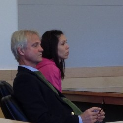 Jeannie Chapman, 37, of Brewer (left) and her attorney, David Bate, of Bangor appear Friday at the Penobscot Judicial Center. Chapman was sentenced to three years with all but 60 days suspended for striking a man playing Pokemon Go in July with her car.