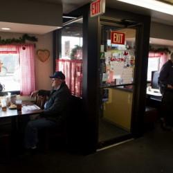 Patrons eating at Chase's Family Restaurant in Bangor Thursday.