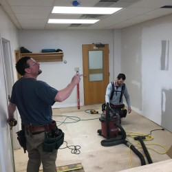 Construction Crews are busy with renovations at 309 St. Thomas Street where a new dental clinic will open in Madawaska in March.