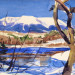 Painting at Ledge Falls