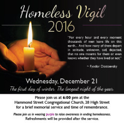 Longest Night Homeless Vigil Planned for December 21st - Bangor's Annual Homeless Memorial Day