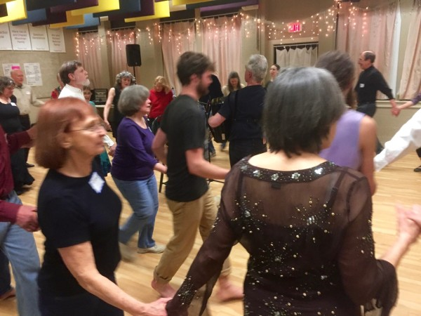 A great night of dancing at Folk Dance Brunswick in Brunswick, Maine.