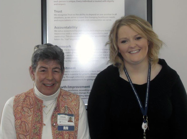 Lorraine Rodgerson (left), CA Dean's vice president - chief nursing officer and chief operating officer, and Brittany Gould (right),nurse manager for Inpatient and the Emergency Department at CA Dean.