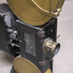 A movie projector from the 1930's in the collection at the Northeast Historic Film in Bucksport.