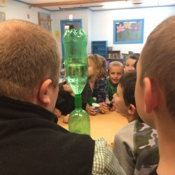Thanks to Mahan's Redemption at 705 Stillwater Ave., students in the Old Town-Orono YMCA's After School Activity Program recently were able to participate in a fun physics lesson about water and air and whirlpools.
