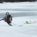 Ratchet straps, cargo hooks and fence posts: Not your typical ice fishing gear