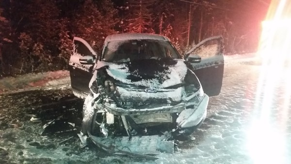 Shawn Berry, 41, of Livermore Falls died early Sunday morning of injuries suffered in a two-car crash on Route 4 in Livermore.
