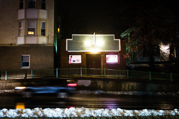 Howie's Pub, named for the owner, Howie Chadbourne, can be seen on Tuesday night on Washington Avenue in Portland. Chadbourne is selling his pub and getting out of the business after tending local bars for more than 40 years.