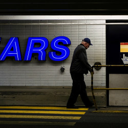 A customer enters the Sears store in North Vancouver, British Columbia, in this February 2011 file photo. Sears announced Wednesday it is closing its store in Augusta.
