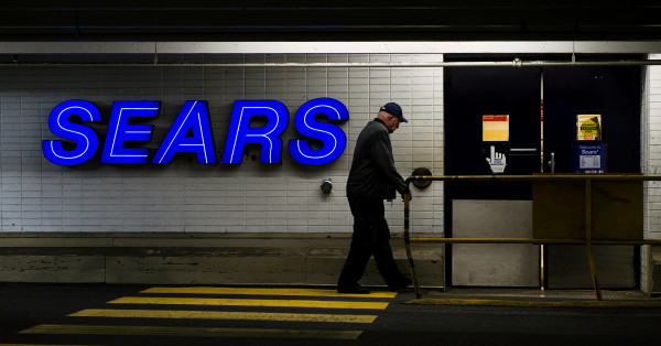 A customers enters the Sears store in North Vancouver, British Columbia February 23, 2011.
