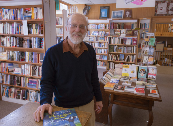Marc Berlin, who owns BookMarc's, can be seen at his bookstore in downtown Bangor in this February 2014 file photo.