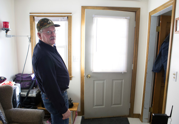 Tom Picard gives a tour of his home in Millinocket Saturday. Picard says he lives &quotthe new normal.&quot As a millworker, Tom has been laid off 10 times since 1980. For the last few years he has been making the weekly commute to his new job 130 miles away, at the Huhtamaki plant in Waterville. This past summer, he divorced his wife, Tammy Shorey Picard, as the commuting was putting a strain on their relationship.