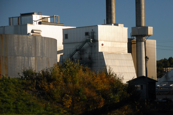 The former Great Northern Paper Co. paper mill in East Millinocket is seen Sept. 25, 2014.
