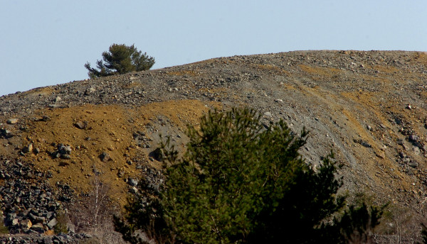 One of the waste rock piles at the former Callahan Mine Corp. site in Brooksville in a 2008 file photo. The company operated at the site from 1968-1972.