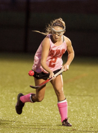 Josie Varney of Oakland competes in a game for St. Paul's School in New Hampshire last season. The senior, who will attend Duke on a field hockey scholarship, hopes to compete for the U.S. Junior National team on an upcoming European tour.