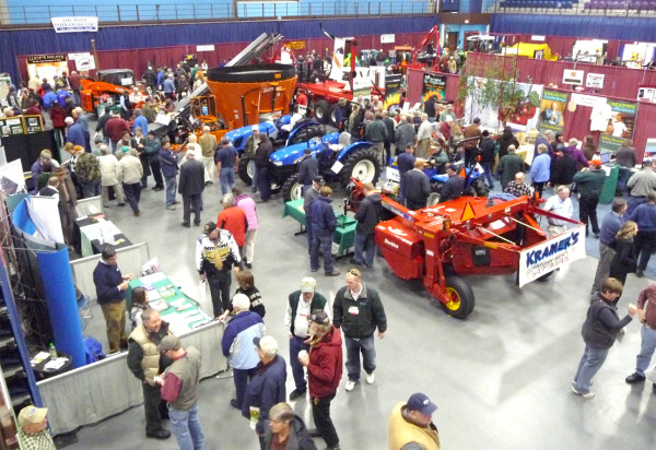 Visitors and vendors can be seen during the annual State of Maine Agricultural Trades Show at the Augusta Civic Center in this January 2011 file photo.