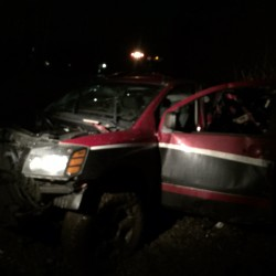 A vehicle was struck by a train on Wednesday in Old Orchard Beach.