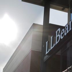 A sign marks the L.L. Bean store in Burlington, Massachusetts, Jan. 12, 2017.