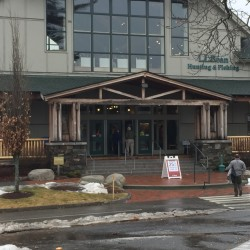 Customers can be seen on Thursday outside L.L. Bean's Hunting and Fishing Store in Freeport. Many said a boycott effort targeting the outdoor retailer would not stop them from shopping there.