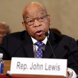 U.S. Rep. John Lewis, D-Georgia, testifies before the Senate Judiciary Committee during the second day of confirmation hearings on Jeff Sessions' nomination to be U.S. attorney general. President-elect Donald Trump attacked the senator on Twitter over the weekend after Lewis told NBC he does not see Trump as a legitimate president.