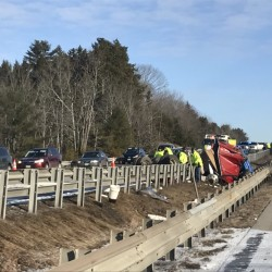 A crash involving a tanker truck hauling milk and a passenger vehicle on Interstate 295 has claimed one life and injured one other motorist.