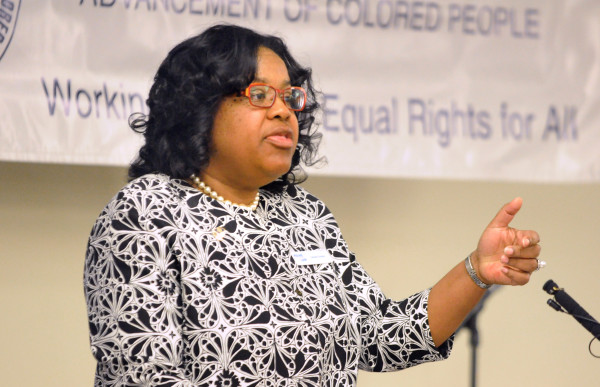Danielle Conway, dean of the University of Maine School of Law, delivers the keynote address Monday during the Martin Luther King Jr. Breakfast Celebration at Wells Conference Center at the University of Maine in Orono.