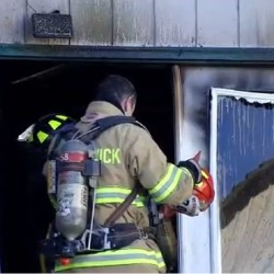 Fire officials said the homeowners were using a salamander kerosene powered heater to thaw pipes in the crawl space under the home. That heater started the fire.