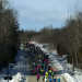 Runners make their way on Golden Road during the second Millinocket Marathon and Half in this December 2016 file photo.