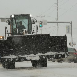 About a foot of snow closed out 2016 in central Aroostook County as contractors hit the city streets and rural roads at the end of December to clear the way before the next storm in early January.