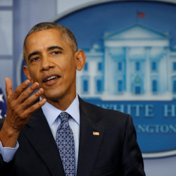 President Barack Obama holds his final press conference on Wednesday at the White House in Washington, D.C.