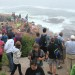 Visitors to Acadia National Park in Maine gather along the shore next to Thunder Hole on Sept. 6, 2016, to watch heavy surf kicked up by the remnants of Hurricane Hermine as the storm blew to the northeast off the coast. Acadia National Park had its busiest year last year in 27 years -- and perhaps ever -- with a record estimate of 3.3 million visits. Bill Trotter|BDN