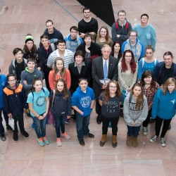 The Pride of Madawaska Marching Band visited the offices of U.S. Sens. Susan Collins and Angus King during a trip this week to Washington, D.C., where they were among only 12 marching bands chosen to perform as part of the celebration leading up to the inauguration of Donald Trump.