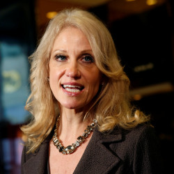 Kellyanne Conway, counselor to President Donald Trump, speaks to the media at Trump Tower in New York, Nov. 16, 2016.