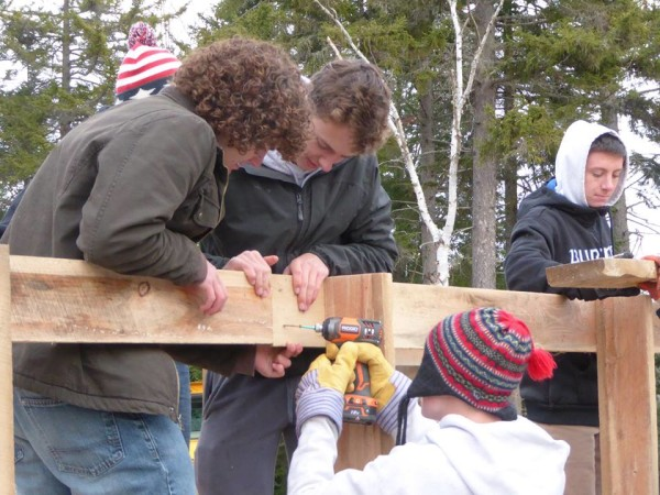 Greenville Consolidated School student Anthony Mason led an effort to build a 31-foot, cross-country ski bridge for Friends of Squaw Mountain.  Mason organized all volunteers and contractors for this project while earning his Eagle Scout ranking.