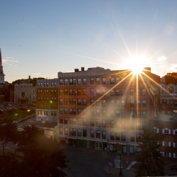 Downtown Bangor at sunset