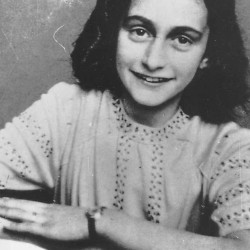 An undated photo of Anne Frank
