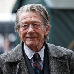 Actor John Hurt arrives for a memorial service for actor and director Richard Attenborough at Westminster Abbey in London March 17, 2015.