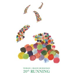 Every registrant for the 2017 Beach to Beacon 10K road race this summer will receive this piece of artwork in honor of the race's 20th anniversary. The poster was designed by Kirk Simpson of York, a student at the Maine College of Art.