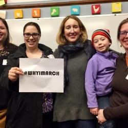 Organizers for Maine March, the local effort to get people to the Women's March on Washington, are from left Sarah Gaba, Cara Paulak, Genevieve Morgan and Sally Struever with son Jasper Eiermann. These women are headed to D.C., but there also will be two marches in Maine taking place the same day as the Women's March on Washington.