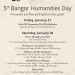 Poster for the 5th Annual Bangor Humanities Day, January 28, 2017.